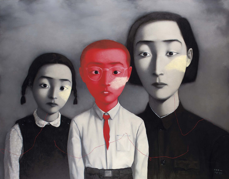 A Big Family, 1995 - Zhang Xiaogang