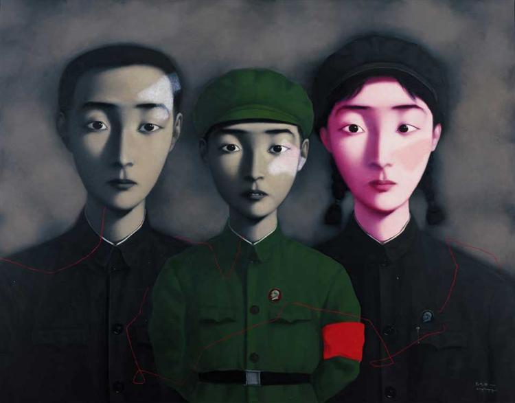Bloodline - Big Family, 1995 - Zhang Xiaogang