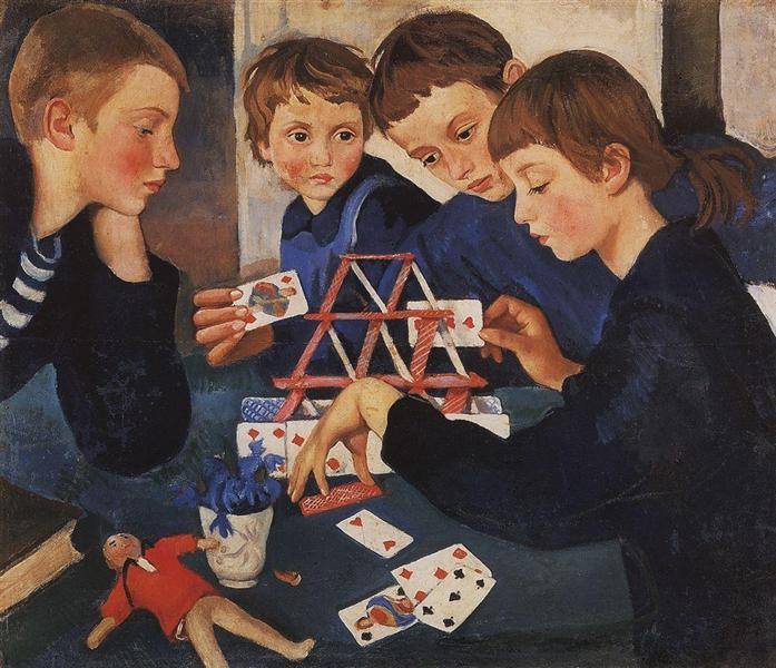 House of cards, 1919 - Zinaida Serebriakova