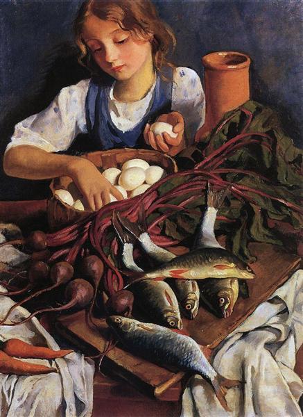 На кухне, 1923 - Зинаида Серебрякова
