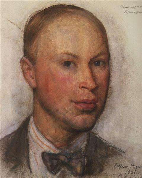 Портрет композитора С.С.Прокофьева, 1926 - Зинаида Серебрякова