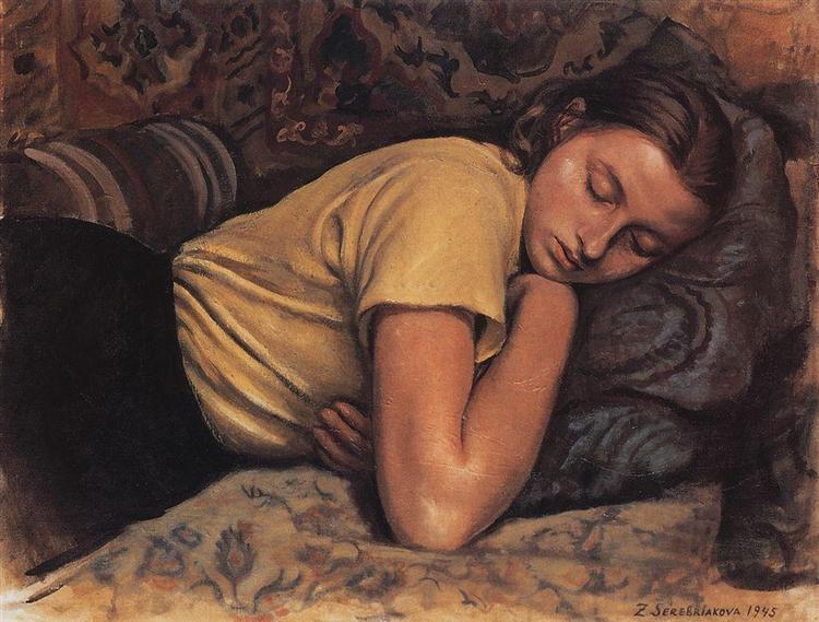 Sleeping Katya, 1945 - Zinaida Serebriakova