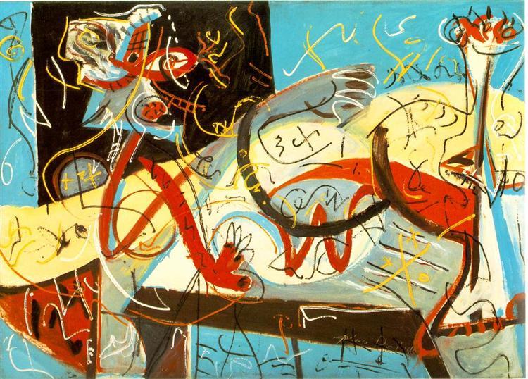 Stenographic Figure, 1942 - Jackson Pollock