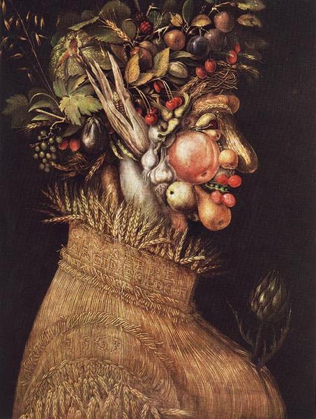 Summer, 1563 - Giuseppe Arcimboldo