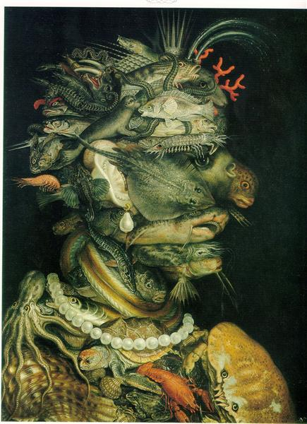 Water, 1566 - Giuseppe Arcimboldo